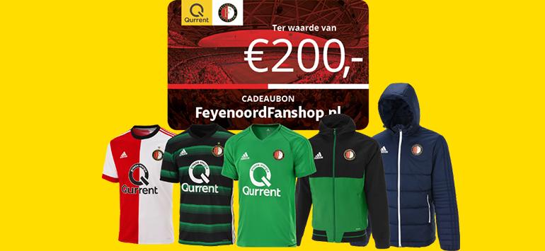 Feyenoord Fanshop cadeaubon t.w.v. €200,- bij Qurrent!