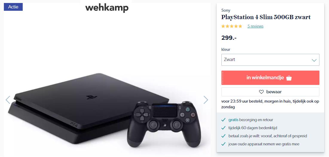Playstation 4 Actie Essent Uitverkocht Niet Hier